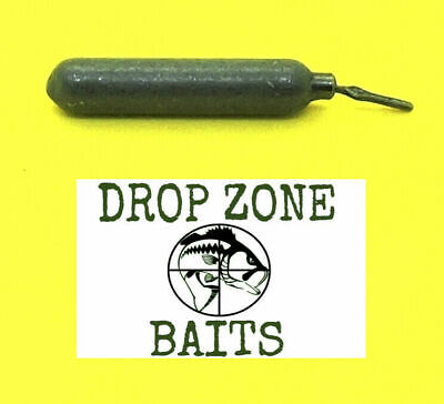 100 Count  1/4 oz Finesse/Cylinder Drop Shot Sinkers / Weights Dark Polished Fin