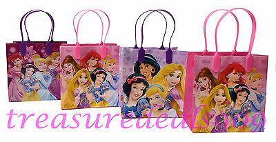 Disney Princess 12 Pc New Goodie Bags Party Favors Candy Loot Treat Birthday Bag