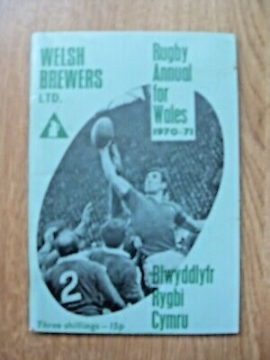 Welsh Brewers Rugby Annual for Wales 1970-71