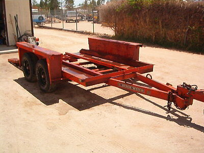 Tandem axel Trencher trailer