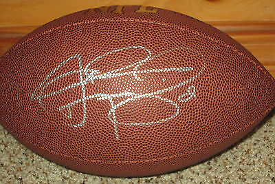 Johnny Manziel Signed Replica NFL Football with exact proof