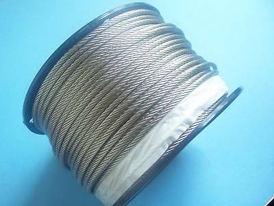 304 Stainless Steel Wire Rope Cable, 3/16, 7x19, 500 ft Reel