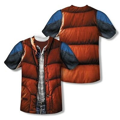 Back to the Future Marty McFly Costume 2-Sided All Over Print Poly Shirt S-3XL