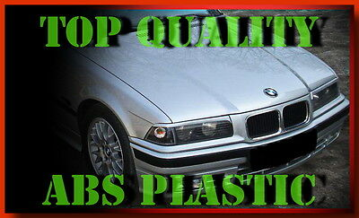 Bmw E36 Coupe Eyebrows Eyelids Headlight Brows Abs Plastic New Tuning Trims