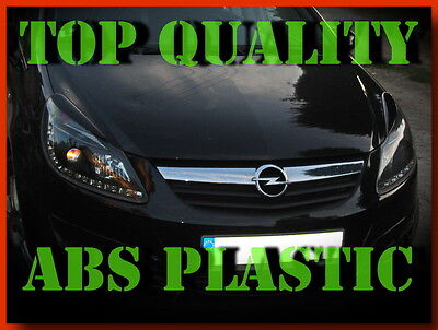 Vauxhall Opel Corsa D  Headlight Eyelids Eyebrows Trims Abs Plastic New Tuning
