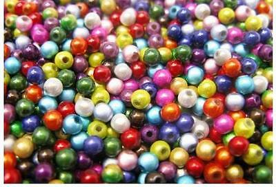 300pcs - 50pcs 4mm 6mm 8mm 10mm 3D Illusion Miracle Beads Mixed UK Fast Delivery
