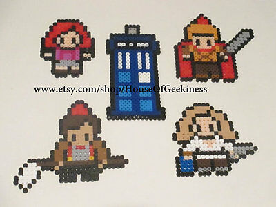 Hanging Ornaments - Doctor Who Inspired Series 6 Special Perler Art