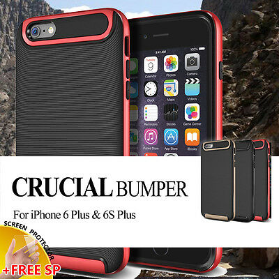 Apple iPhone 6 Plus / 6S Plus Premium Crucial Bumper Hybrid Case Cover