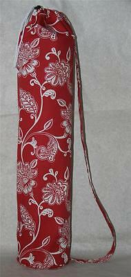 Red  Yoga & Pilates Mat Bag with Carry Strap & Draw String