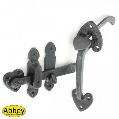 "Black Antique Iron Thumb Latch -  Size = 8"" (200mm)"