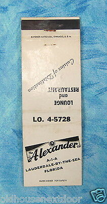 Alexander Lounge & Restaurant, Lauderdale-By-The-Sea, Florida,  (VM-118)