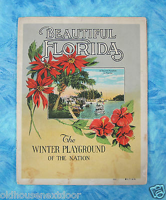 1920's Florida Booklet, 20 pages, great color photos (SM-118)
