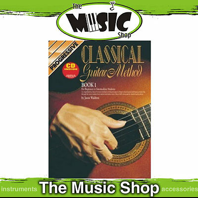 New Progressive Classical Guitar Method Tuition Book with CD