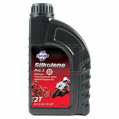 Silkolene PRO 2 Full Synthetic Ester 2T Motorbike Premix Racing Engine - 1 LITRE