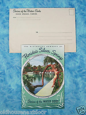 1948 Silver Springs Florida Booklet, 36 pgs, early color w/envelope, (f-39)