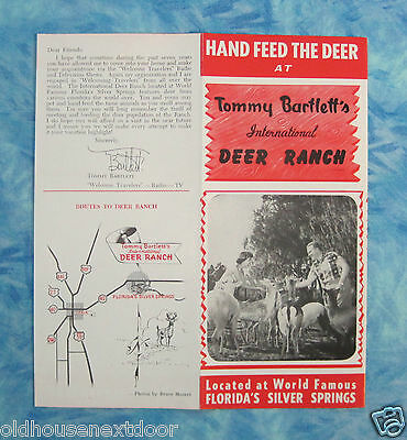 Vintage Tommy Bartlett Deer Ranch, Florida Rack Flyer,  (VM-29)