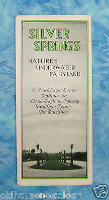 Vintage Silver Springs, Florida Rack Flyer,  (VM-30)
