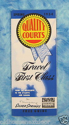 1954 Quality Courts Travel Guide, 44 pages,  (VM-31)