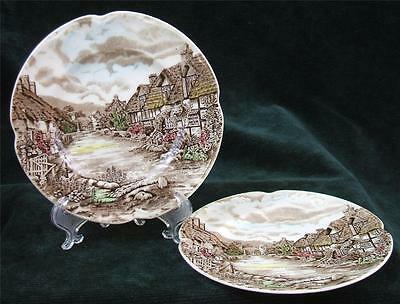 Pair of - JOHNSON BROTHERS - OLDE ENGLISH COUNTRYSIDE - BREAD & BUTTER PLATES