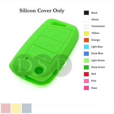 Silicone Cover fit for VOLKSWAGEN Golf 7 GTI Flip Remote Key Case 3 BTN 12 C LG