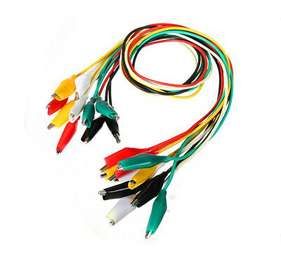 "20"" Double-ended Crocodile Clip Alligator Test Jumper Probe Lead Wire"