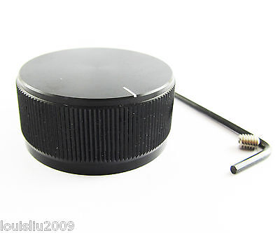 1pc High Quality Black Color Aluminum Audio Rotary pots Knob 40mmx19mm NEW