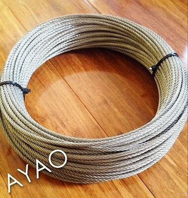 Ayao 50 Meters Stainless Steel Wire Rope Cable 4mm 7x7 316 Balustrade