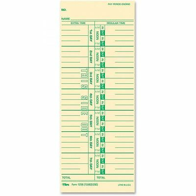 TOPS One-Sided Weekly Time Cards - TOP12563