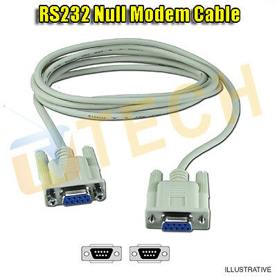 RS232 Cable Null Modem Cable DB9 Straight Through 1.8M