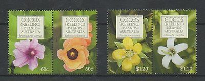 COCOS ISLAND 2010 FLOWERS Set Superb MNH