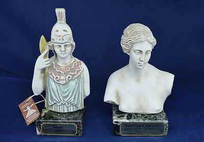 Ancient Greek Goddess Athena and Aphrodite sculpture statue bust artifacts
