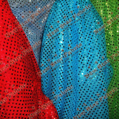 "SMALL DOT CONFETTI SEQUIN FABRIC 45"" Wide sold By The Yard"