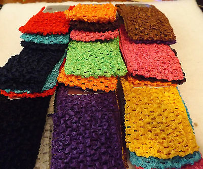 Wholesale 36 pcs Girls Baby Crochet Headband With 6 inch Acrylic
