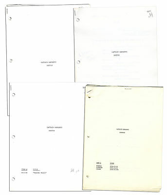 Production-Used 4 Captain Kangaroo Sketch Scripts
