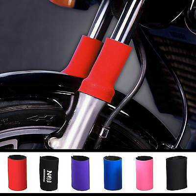 Neoprene Motorcycle Fork Guards. Made in Minneapolis by NOJ Gear USA.