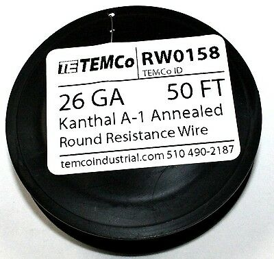 Kanthal A-1 Wire, 50 FT spool -  26Gauge   ( RW0158 )