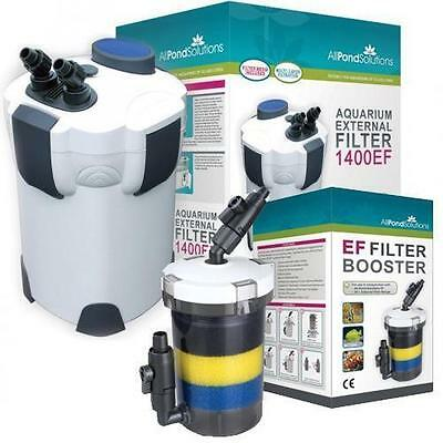 Aquarium Fish Tank EF External Filter and Optional Booster Filter + FREE Media