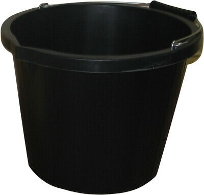 ProStable Water Bucket Black x 3 Gallon - Horse/Pony Stable/Yard