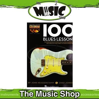 New Guitar Lesson Goldmine 100 Blues Lessons Music Tuition Book with 2x CDs