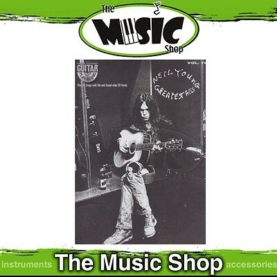 New Neil Young Greatest Hits Guitar Play Along Book & CD - Volume 79