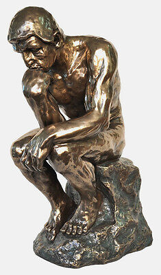 LARGE Veronese Bronze Replica of Auguste Rodin's ~ THE THINKER Sculpture Statue