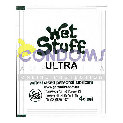 Wet Stuff ULTRA Personal Lubricant Sachets (3 Lubricant Sachets) SAMPLE PACK