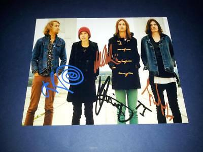 """Tame Impala Band X4 Pp Signed 10""""x8"""" Photo Repro Kevin Parker Psychedelic Rock"""