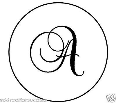 "Personalized Monogram 1"" Round Envelope Seals Wedding Party Favors"