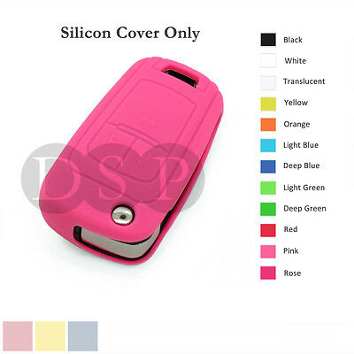 Silicone Cover Holder fit for Chevrolet Folding Flip Remote Key Fob Case 12C PK