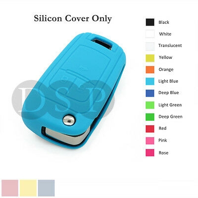 Silicone Cover Holder fit for Chevrolet Folding Flip Remote Key Fob Case 12C LB