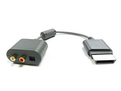 GOLD PLATED RCA AUDIO CABLE ADAPTER FOR XBOX 360 + SLIM - BRAND NEW