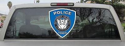 Transformers Decepticon Pacis Quod Alcedonia Barricade Sticker Decal Var. Sizes