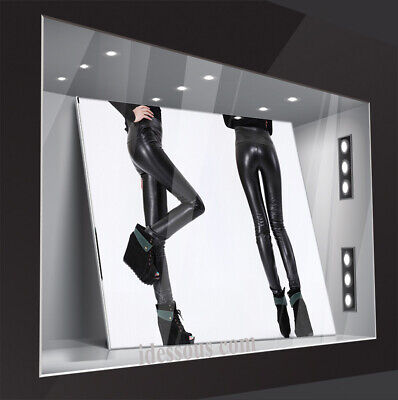 Sexy High Waist Leggings Wetlook Leggins Leder Optik Legging Damen Hose Clubwear