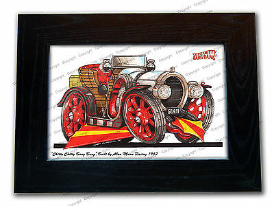 CHITTY CHITTY BANG BANG Classic Movie Car Koolart Quality Glass Framed Picture